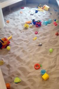 Spielplatz Sandkasten