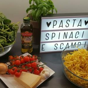 Pasta Scampi e Spinaci (1)