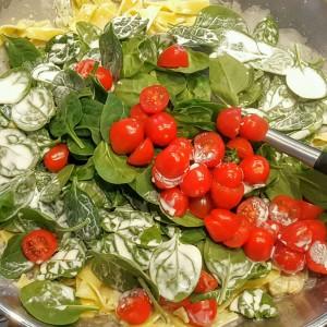Pasta Scampi e spinaci 2