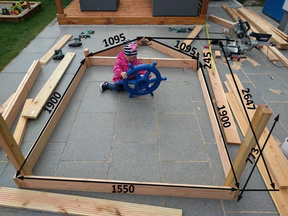 Klettergerüst Bauhaus : Diy piratenschiff sandkasten u2013 gabelschereblog
