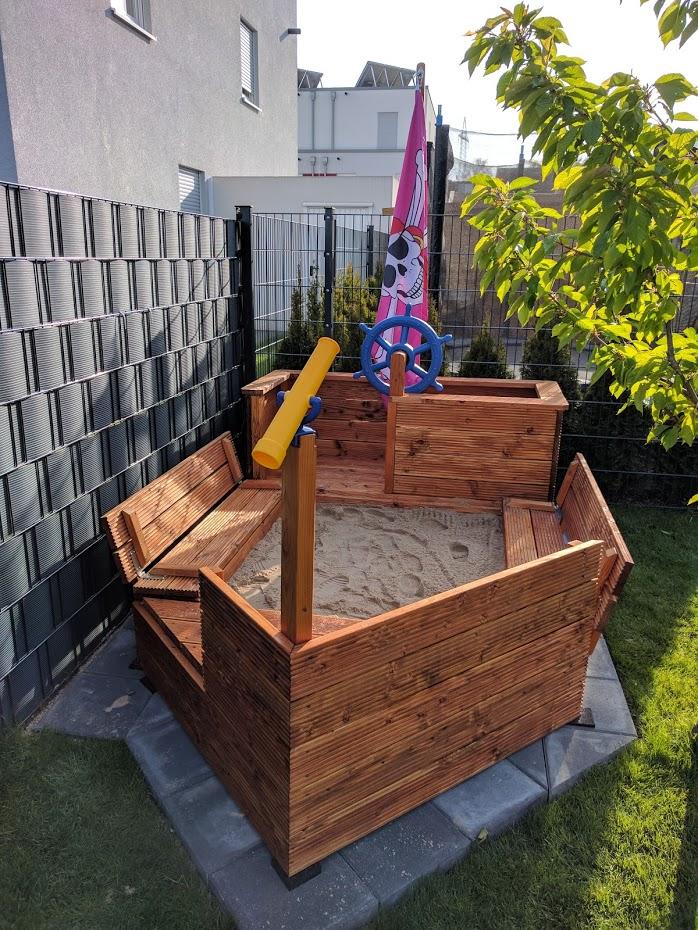 Fabulous DIY Piratenschiff-Sandkasten – gabelschereblog VT14