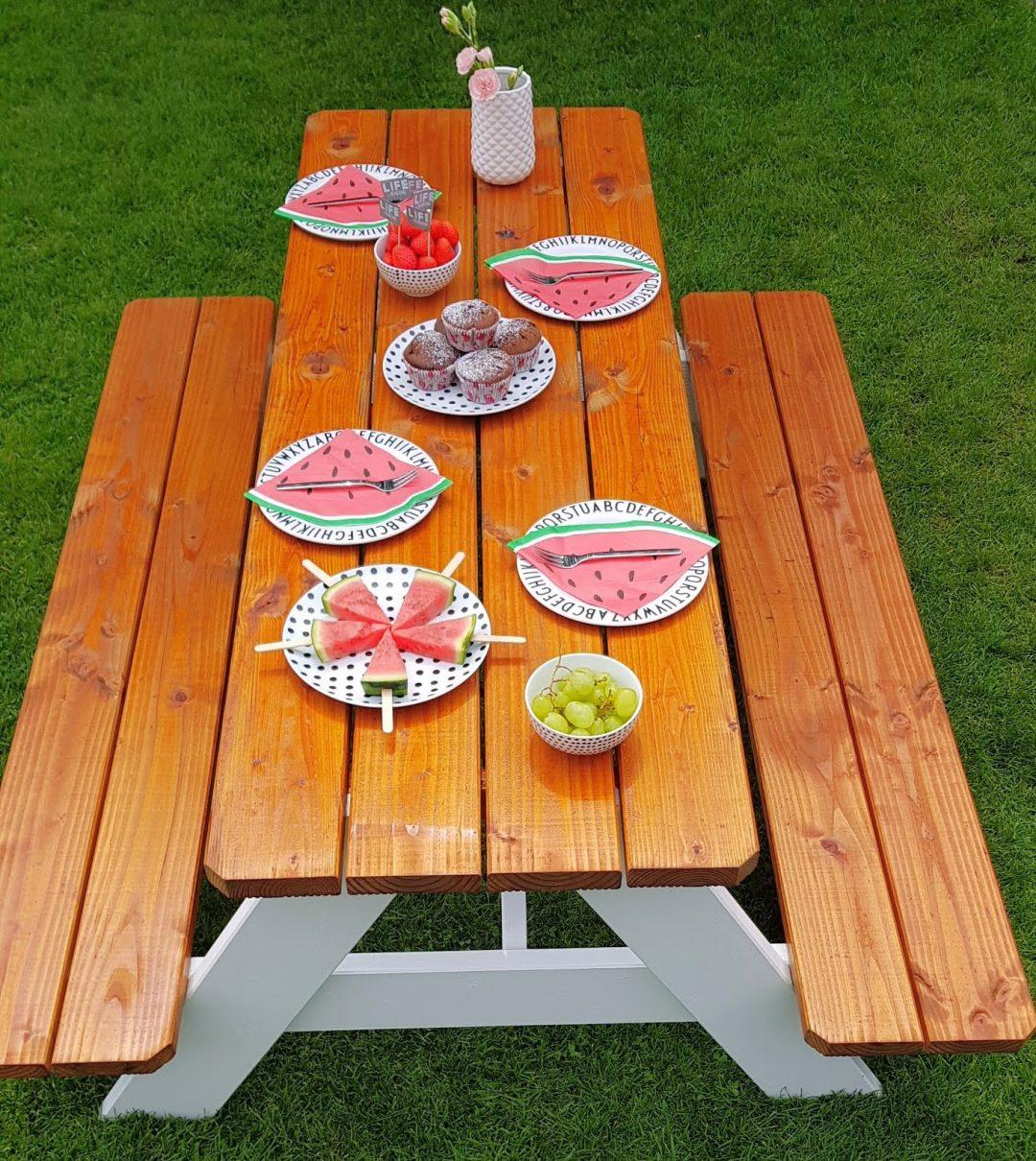 Kindertisch Picknicktisch Sitzbank für Kinder