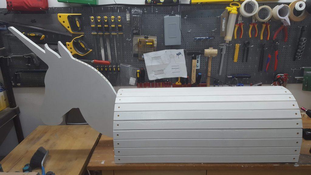 DIY Holzpferd Einhorn VOLTIGIERPFERD 31