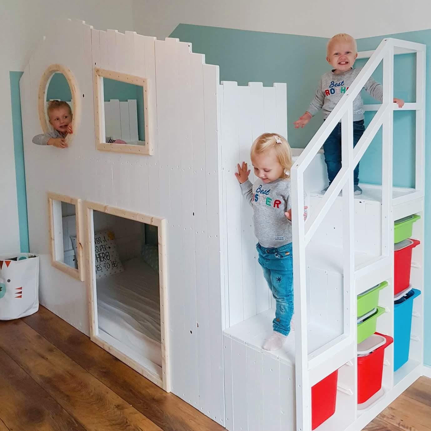 DIY Baumhaus Hochbett   IKEA Kura Hack   gabelschereblog